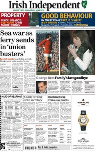 Irish Independent - Broadsheet version of the Irish Independent, 24 November 2005