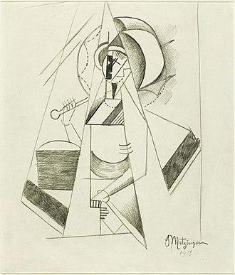 En Canot - Jean Metzinger, 1913, Etude pour En canot, pencil drawing on paper, 28 x 23.5 cm, Musée National d'Art Moderne, Centre Pompidou, Paris