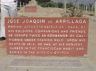 José Joaquín de Arrillaga - The gravesite of José Joaquín De Arrillaga at Mission Nuestra Señora de la Soledad, also known as the Soledad Mission.