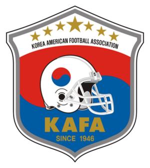 South Korea national American football team - Image: KAFA Badge