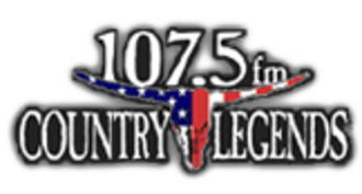 "KKLV - Former ""Country Legends"" logo."