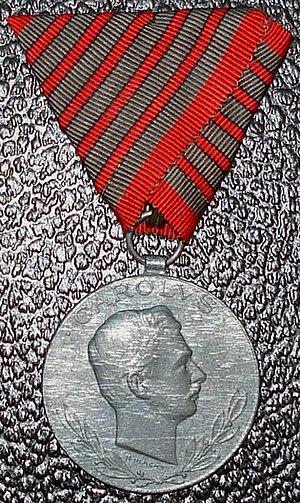 Wound Medal (Austria-Hungary) - Image: Laeso Militi Obv