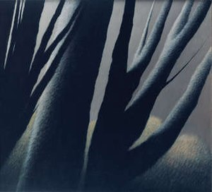 "Robert Kipniss - Large Trees at Dusk (1962), oil on canvas, 36"" x 40"", Carnegie Museum of Art, Pittsburgh, Pennsylvania"