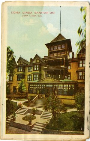Loma Linda University - Early Postcard of Loma Linda Sanitarium