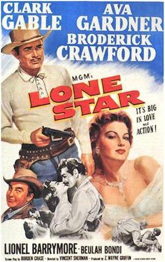 Lone Star (1952 film) - Theatrical film poster