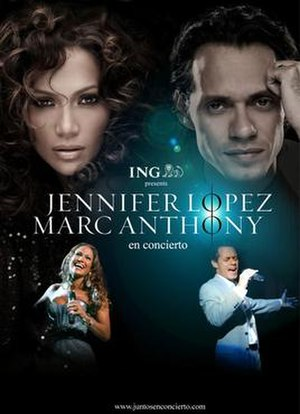 Jennifer Lopez and Marc Anthony en Concierto - Promotional poster for the tour