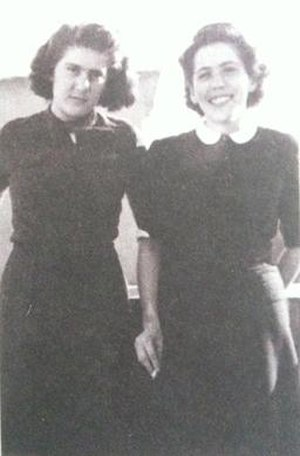 Magda Bošković - Magda Bošković with younger sister Maja prior World War II.