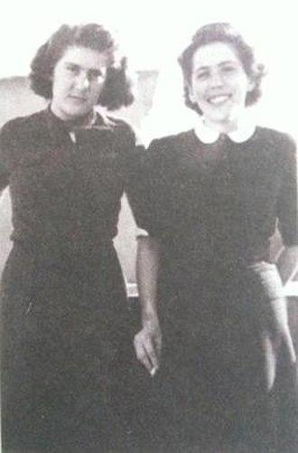 Magda Bošković - Magda Bošković with younger sister Maja prior World War II.