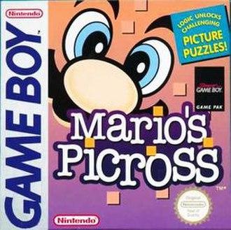 Mario's Picross - European box art