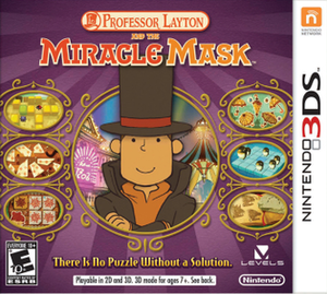 Professor Layton and the Miracle Mask - North American cover art