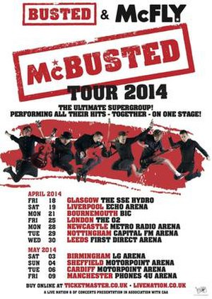 McBusted Tour - Original poster for the tour, showing the original 11 dates
