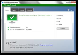 Microsoft Security Essentials - Image: Microsoft Security Essentials