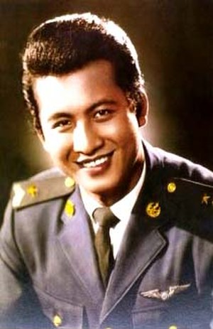 Mitr Chaibancha - The debonair Thai film actor, shown in his Air Force uniform.