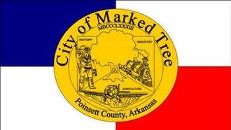 Marked Tree, Arkansas - Image: Mt flag