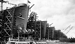 USNS Watertown (T-AGM-6) - Image: Oregon Shipbuilding Corporation 1944