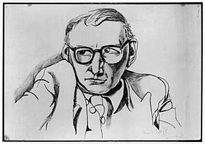 Patrick Kavanagh - Patrick Kavanagh by Patrick Swift, lithograph, 1956, NPG, London