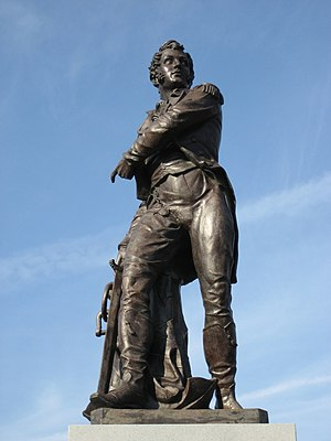 Perrysburg, Ohio - In the heart of downtown is a statue of Commodore Oliver Hazard Perry, after whom Perrysburg is named.
