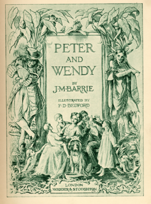 Peter and Wendy - Title page, 1911 UK edition