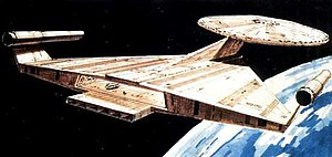 Starship Enterprise - Ralph McQuarrie's redesigned Enterprise from Star Trek: Planet of the Titans