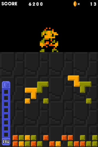Picopict - Gameplay of Picopict, showing an unfinished 8-bit sprite of Mario.