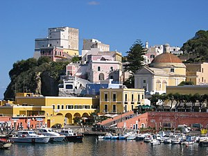 Ponza - View of the harbor.