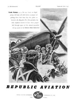 Republic Aviation - Image: REPUBLIC AVIATION 1943 Advertisement s