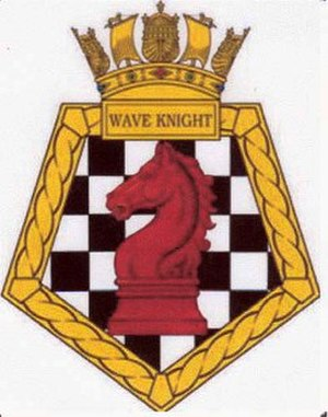 RFA Wave Knight (A389) - Image: RFA Wave Knight ship's badge
