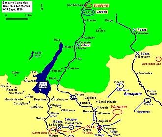 Battle of Bassano - Race for Mantua, 9–15 Sept 1796
