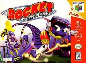 Rocket: Robot on Wheels - North American Nintendo 64 box art