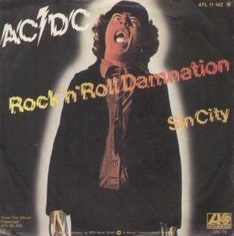 Rock 'n' Roll Damnation - Image: Rocknrolldamnationsi ngle