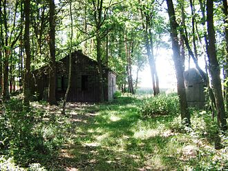 Rodewald - A remaining one man bunker standing adjacent to a disused hunter's cabin in the woods around Paschenburg