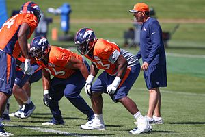 Russell Okung - Russell Okung Broncos - Practice 2016