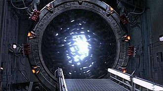 Stargate - An activated Stargate, the central object of the Stargate universe, here depicted in the SG-1 television series.