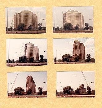 Shamrock Hotel - Photographs Taken at One-Week Intervals During Demolition of the Shamrock Hotel, August - September, 1987.