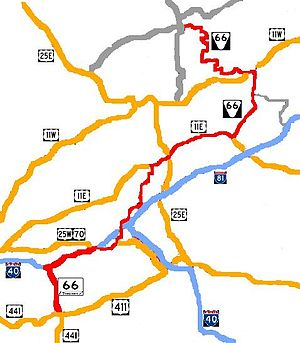 Tennessee State Route 66 - Image: TNSR 66 bad