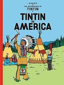 Tintin and Snowy have been captured by Native American Indians.