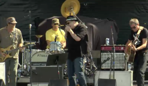 The Samples - The Samples original lineup at Mile High Music Festival 2010 with (left to right) Sean Kelly, Jeep MacNichol, John Popper, and Charles Hambleton