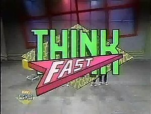 Think Fast (Nickelodeon game show) - Image: Think Fast Logo
