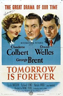 <i>Tomorrow Is Forever</i> 1946 film by Irving Pichel