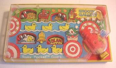 The Tomy Pocket Game Shooting Gallery was manufactured in 1978. Tomy shooting gallery.jpg