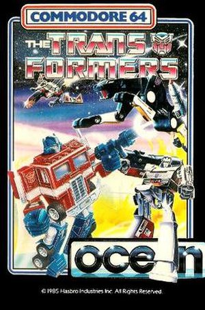 The Transformers (1986 video game) - C64 Cover art