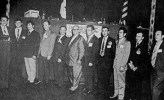 Macedonian Americans - First executive committee of the United Macedonians based in Toronto, Canada ca. 1960.