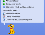 Windows Explorer's default Search Companion, Rover.