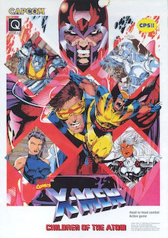 X-Men: Children of the Atom (video game) - Arcade flyer