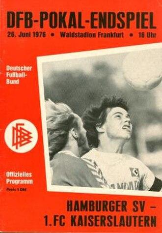 1976 DFB-Pokal Final - Image: 1976 DFB Pokal Final programme