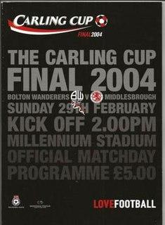 2004 Football League Cup Final association football match