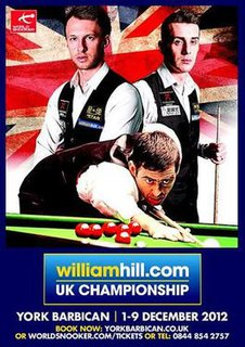 2012 UK Championship snooker tournament