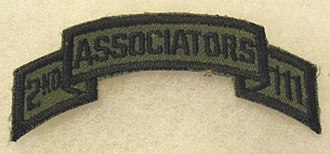 "Associators - 2nd Battalion, ""Associators"", Pennsylvania National Guard, U.S. Army 111th Infantry Regiment insignia patch"