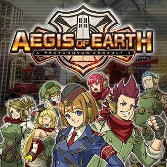 Aegis of Earth: Protonovus Assault - Image: Aegis of Earth Vita cover art