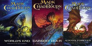 The Age of Misrule (series) - The trilogy, in order of publication from left to right.